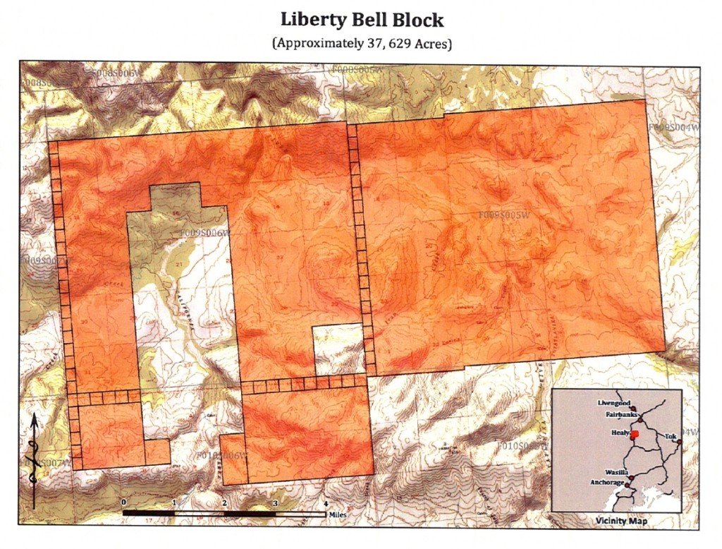 Source: Alaska Mental Health Trust Authority - Trust Land Office, Best Interest Decision Liberty Bell Block Competitive Lease Offering, Appendix A, p.8