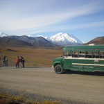 Bus Visitors & Mountain
