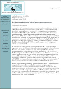 Click below to read our Healy Creek Plan of Operations comments